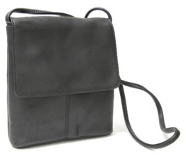 Royce Leather Royce Flap Over Crossbody Bag in Colombian Genuine Leather