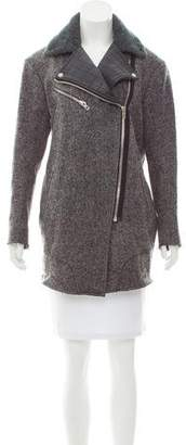 Rag & Bone Virgin Wool Shearling-Trimmed Coat