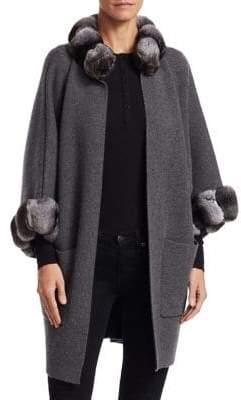 The Fur Salon Cashmere& Dyed Chinchilla Fur Coat
