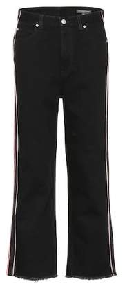 Alexander McQueen High-waisted cropped jeans