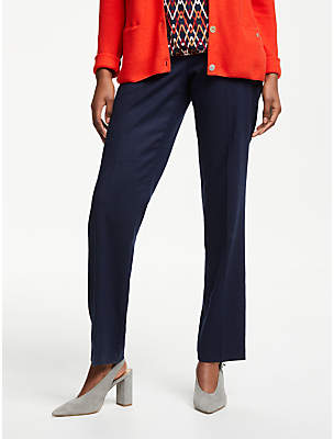 at John Lewis and Partners · Gerry Weber Straight Leg Wool Mix Trousers,  Dove Blue 55542f8b08