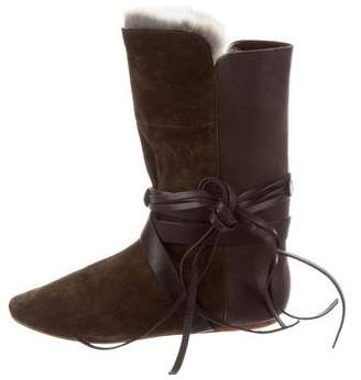 Isabel Marant Nia Rabbit Fur Boots w/ Tags