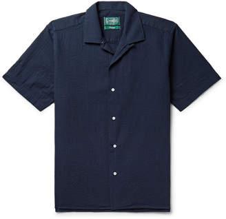 Gitman Brothers Camp-Collar Cotton-Seersucker Shirt