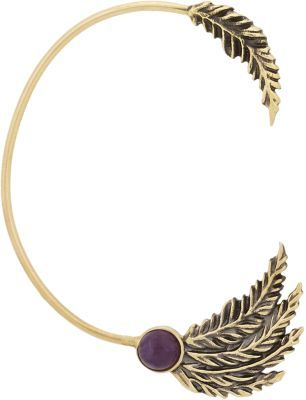 Pamela Love Amethyst Feather Ear Cuff