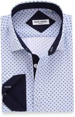 f66bf763c42 Alex Vando Mens Casual Button Down Shirts Long Sleeve Print Men Shirt