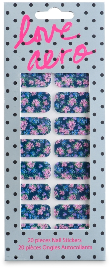 Aeropostale Love Aero Printed Nail Stickers