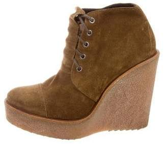 Pierre Hardy Suede Wedge Booties