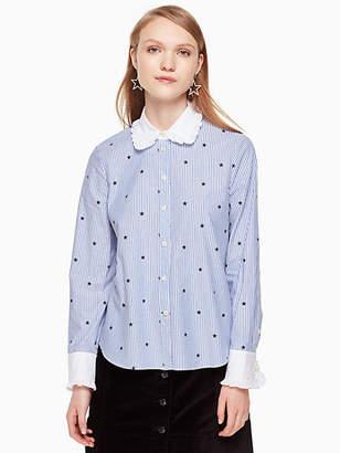 Kate Spade Twinkle stripe poplin shirt