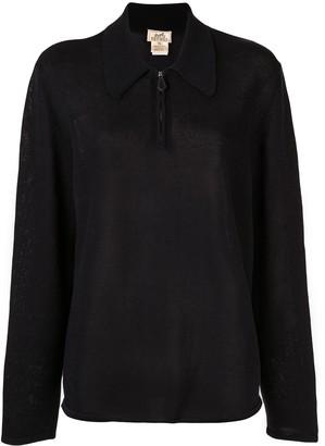 Hermes Pre-Owned Long Sleeve Zip Up Sweatshirt