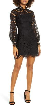 Ever New Long Sleeve Eyelet Lace Dress