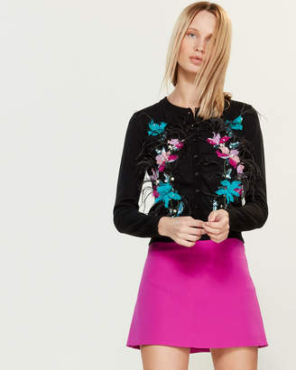 Blugirl Floral Feather Button Cardigan