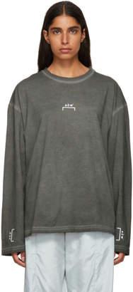 A-Cold-Wall* Grey Bracket Logo Long Sleeve T-Shirt
