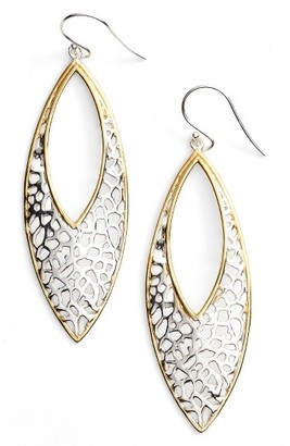 Women's Argento Vivo Two Tone Lace Marquise Earrings $68 thestylecure.com