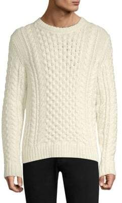 Rag & Bone Trevor Aran Wool-Blend Cabled Sweater