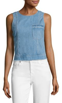 7 For All Mankind Denim Shell Top $159 thestylecure.com