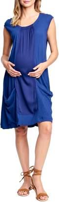 Maternal America Tie Back Maternity Shift Dress