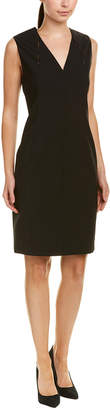 Elie Tahari Wool-Blend Shift Dress