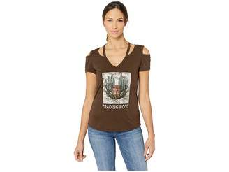 Rock and Roll Cowgirl Cold Shoulder Graphic 47-9366