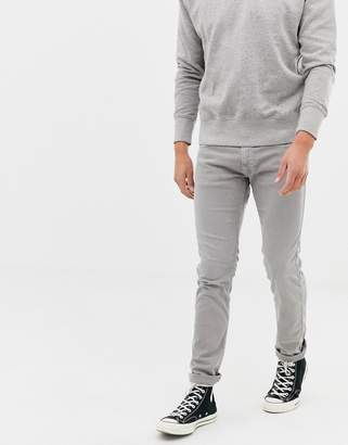 Replay washed gray slim jeans