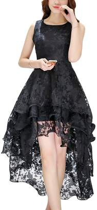 Bai You Mei Women's Bridal Gown Floral Sleeveless Lace Wedding Party Dress S