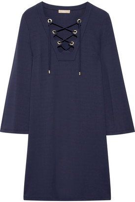Michael Kors Collection - Stretch-jersey Mini Dress - Navy $995 thestylecure.com