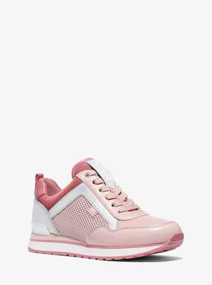 MICHAEL Michael Kors Maddy Leather and Mesh Trainer
