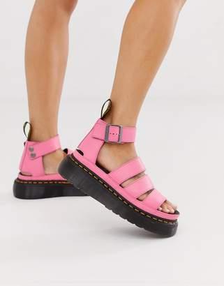 Dr. Martens Clarissa II quad sandals in bright pink