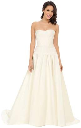 Nicole Miller Laurel Silk Faille Bridal Gown Women's Dress
