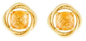 David Yurman 18K Citrine Infinity Earrings