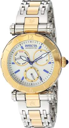 Invicta Women's 'Subaqua' Quartz Stainless Steel Casual Watch, Color:Two Tone (Model: 24464)