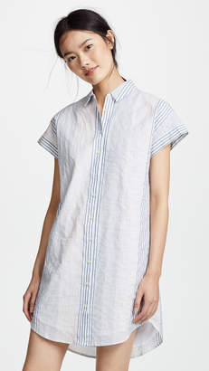 Madewell Multistripe Central Shirtdress