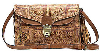 Patricia Nash Venetian Tooled Collection Cassano Tasseled Convertible Cross-Body Bag $149 thestylecure.com