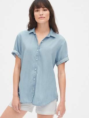 Gap Roll Sleeve Shirt in TENCEL