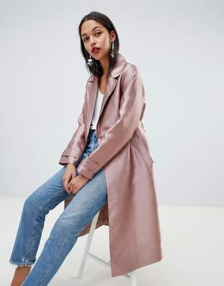 Asos Design Satin Mac