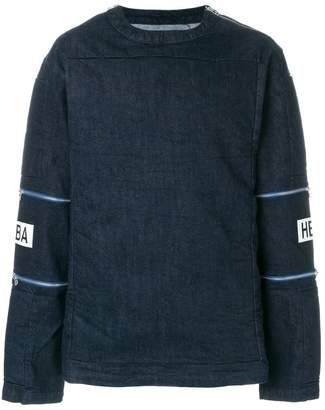 Hood by Air double zip patch sleeve sweatshirt