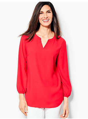 Talbots Classic Crepe Tunic Top