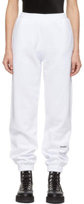 MSGM White Lounge Pants