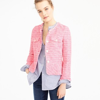 Peplum lady jacket in neon fuchsia tweed $198 thestylecure.com