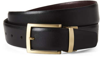 Boconi Black & Burgundy Manny Leather Reversible Belt