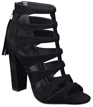 Marc Fisher Ltd Hindera T-Strap Suede Sandals $179 thestylecure.com
