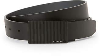 Perry Ellis Portfolio Black Bonded Reversible Leather Belt