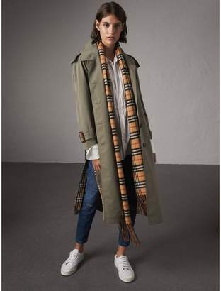 Burberry Side-slit Tropical Garbadine Trench Coat