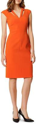 Karen Millen Cutout Seamed Sheath Dress