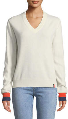 Kule Sawyer V-Neck Cashmere Pullover Top