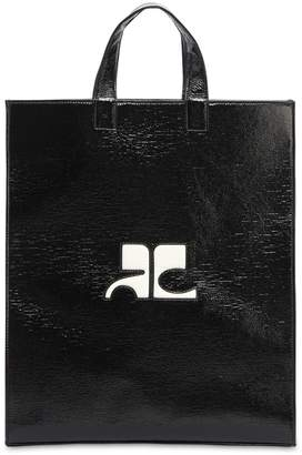 Courreges Logo Patch Vinyl Tote Bag