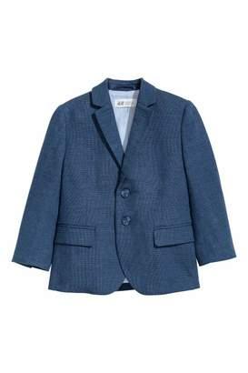 H&M Textured-weave Blazer - Dark blue - Kids
