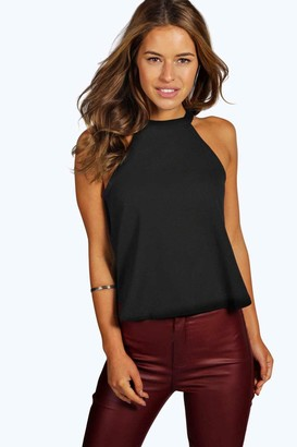 boohoo Petite High Neck Cami Top