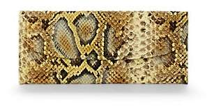 Barneys New York MEN'S PYTHON-STAMPED LEATHER TRAVEL WALLET - YELLOW