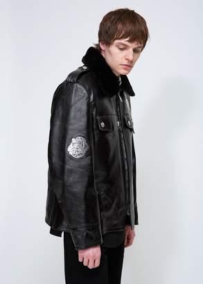 Calvin Klein Roses Shearling Jacket