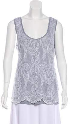 Calvin Klein Lace-Paneled Jersey Top